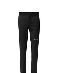 Pantalon chino imprimé noir RtA