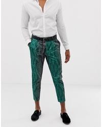 Pantalon chino imprimé vert ASOS DESIGN