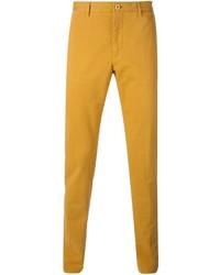 Pantalon chino jaune Etro