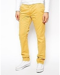 Pantalon chino jaune Jack and Jones