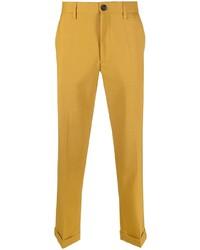 Pantalon chino jaune Marni