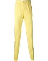 Pantalon chino jaune Salvatore Ferragamo