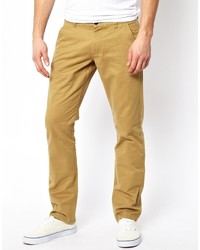 Pantalon chino jaune Selected