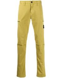 Pantalon chino jaune Stone Island