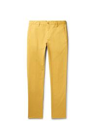 Pantalon chino jaune Zanella