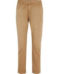 Pantalon chino marron clair Current/Elliott