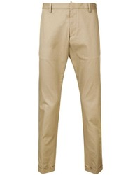 Pantalon chino marron clair DSQUARED2