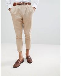 Pantalon chino marron clair Gianni Feraud