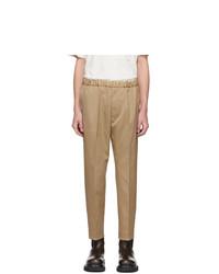 Pantalon chino marron clair Jil Sander