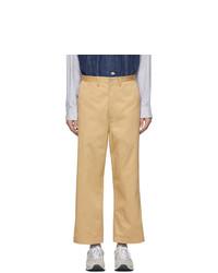 Pantalon chino marron clair Junya Watanabe