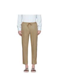 Pantalon chino marron clair Moncler
