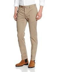 Pantalon chino marron clair