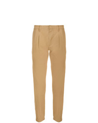 Pantalon chino marron clair Paolo Pecora