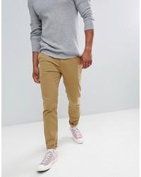 Pantalon chino marron clair Pier One