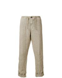 Pantalon chino marron clair Stone Island