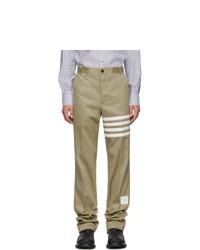 Pantalon chino marron clair Thom Browne