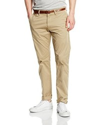 Pantalon chino marron clair Tom Tailor