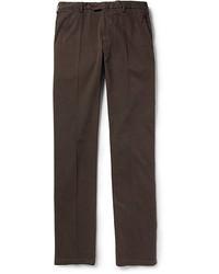 Pantalon chino marron foncé