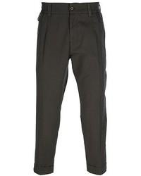 Pantalon chino marron foncé Dolce & Gabbana