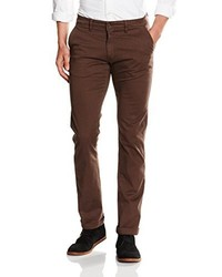 Pantalon chino marron foncé La Martina