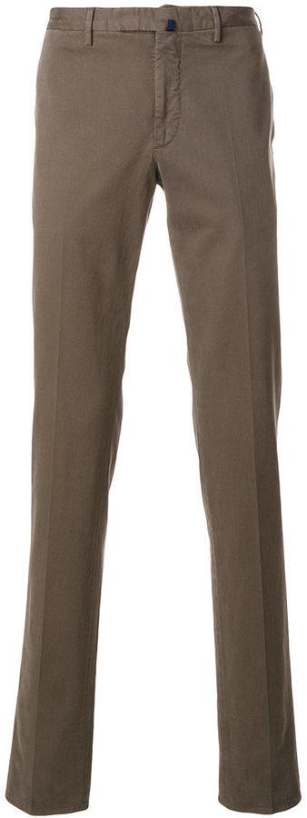 Pantalon chino marron Incotex