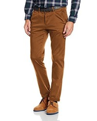 Pantalon chino marron Tom Tailor Denim