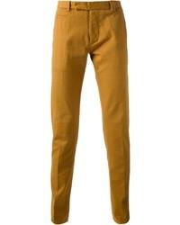 Pantalon chino moutarde Fendi