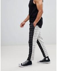Pantalon chino noir et blanc ASOS DESIGN