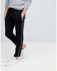 Pantalon chino noir et blanc Mango