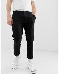 Pantalon chino noir ASOS DESIGN