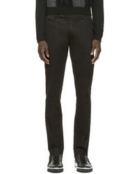 Pantalon chino noir Fendi