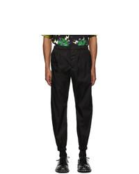 Pantalon chino noir Prada