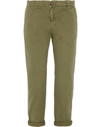 Pantalon chino olive