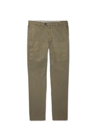 Pantalon chino olive Brunello Cucinelli
