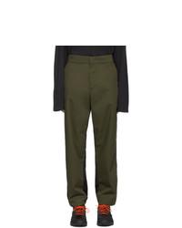 Pantalon chino olive Moncler Genius