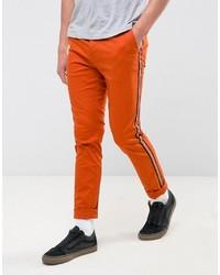 Pantalon chino orange Asos