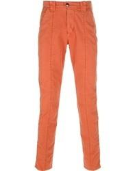 Pantalon chino orange Barba