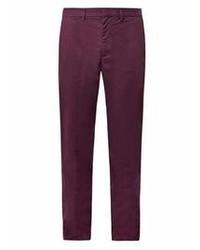 Pantalon chino pourpre foncé