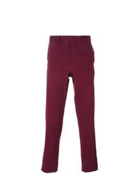 Pantalon chino pourpre foncé Fashion Clinic Timeless