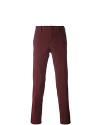 Pantalon chino pourpre foncé Incotex