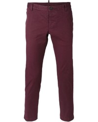 Pantalon chino pourpre DSQUARED2