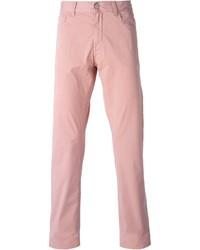 Pantalon chino rose Canali