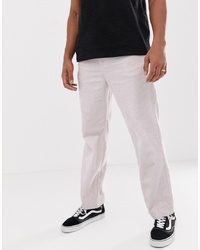 Pantalon chino rose Weekday