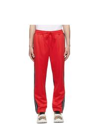 Pantalon chino rouge et noir Burberry