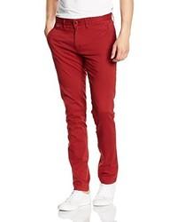 Pantalon chino rouge Hilfiger Denim