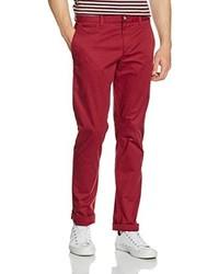 Pantalon chino rouge Original Penguin