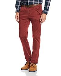 Pantalon chino rouge Tom Tailor Denim