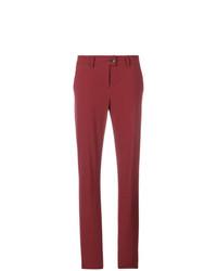 Pantalon chino rouge Tomas Maier