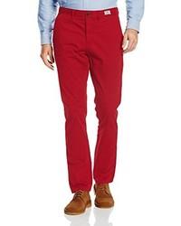 Pantalon chino rouge Tommy Hilfiger