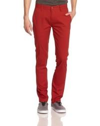 Pantalon chino rouge Volcom